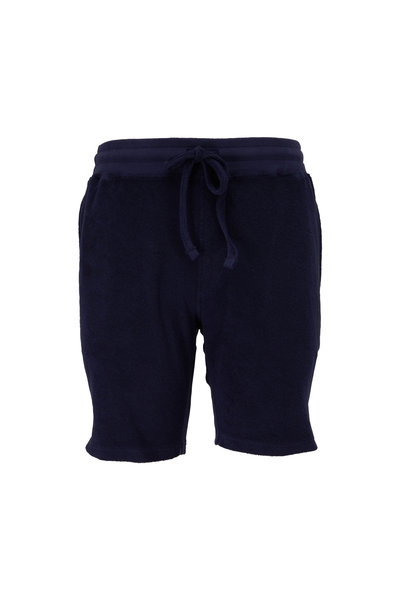 WAHTS - Day Navy Blue Towelling Short