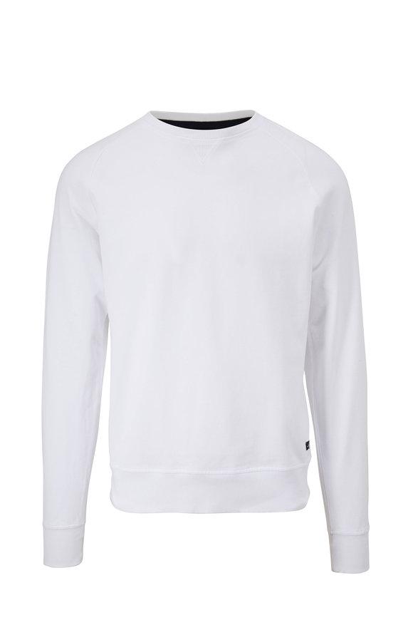 WAHTS Rowe White Piqué Sweatshirt