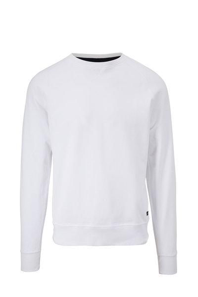 WAHTS - Rowe White Piqué Sweatshirt