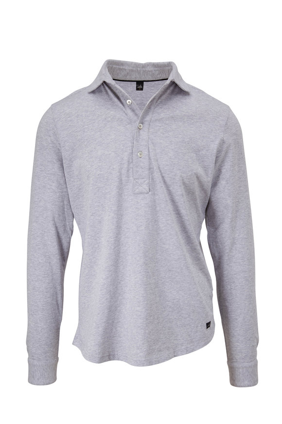 WAHTS Norton Light Gray Melange Long Sleeve Polo