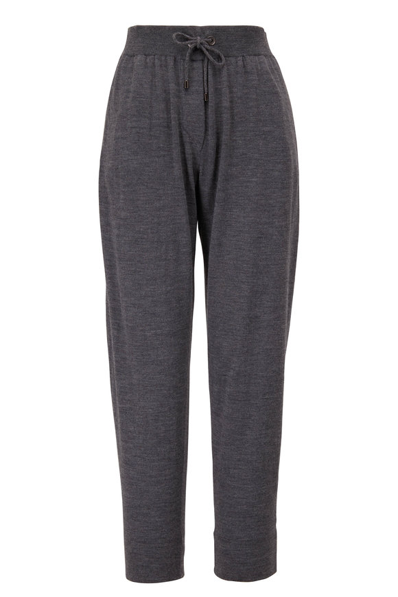 Charcoal Gray Cashmere & Silk Spa Pant