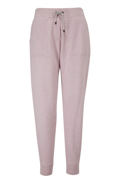Brunello Cucinelli - Antique Rose Wool & Cashmere Spa Pant