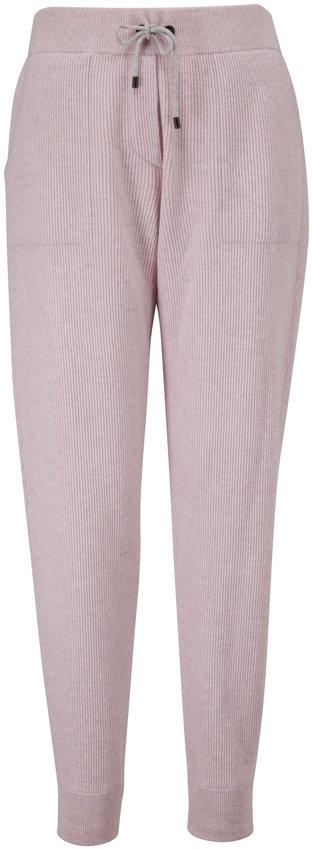 Brunello Cucinelli Antique Rose Wool & Cashmere Spa Pant
