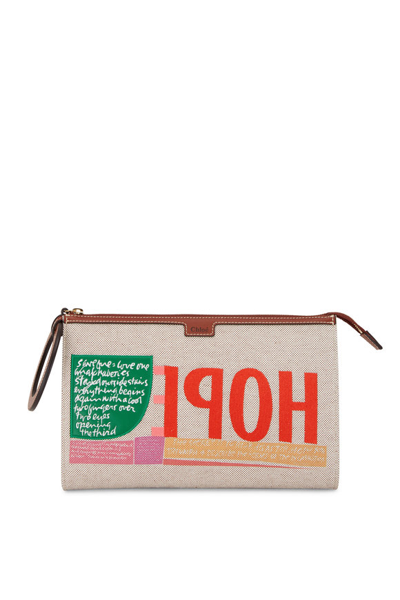 Chloé Sepia Hope Cotton Clutch Bag