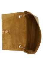 Saint Laurent - Kate Mustard Leather Reversible Shoulder Bag