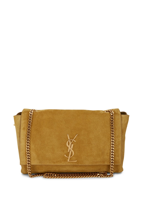 Saint Laurent Kate Mustard Leather Reversible Shoulder Bag
