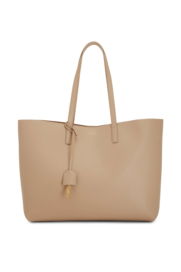 Saint Laurent Beige Leather Shopping Tote