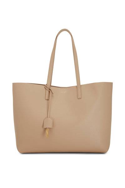 Saint Laurent - Beige Leather Shopping Tote