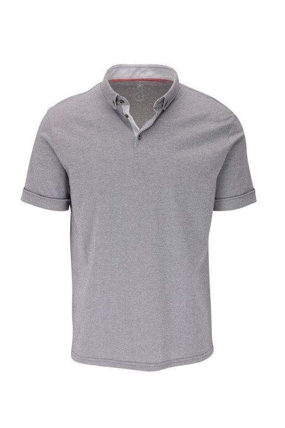 Desoto Gray Micro Stripe Short Sleeve Polo