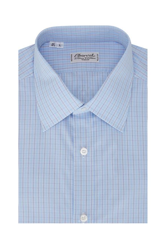 Charvet Light Blue Paid Sport Shirt