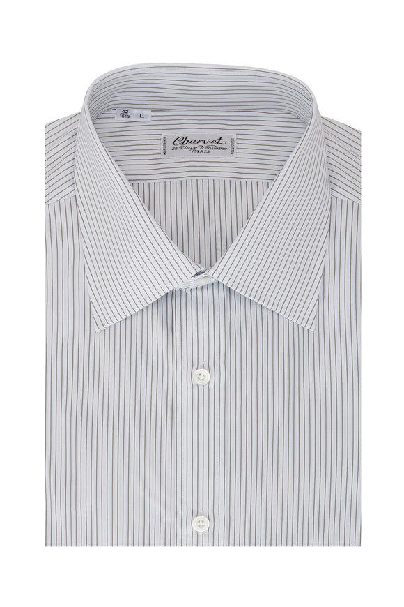 Charvet Light Blue Stripe Sport Shirt