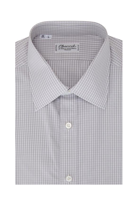 Charvet Light Gray Check Sport Shirt
