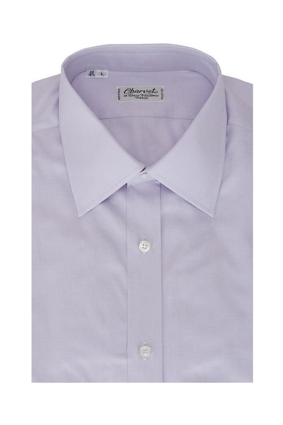 Charvet Light Lavender Mini Check Sport Shirt