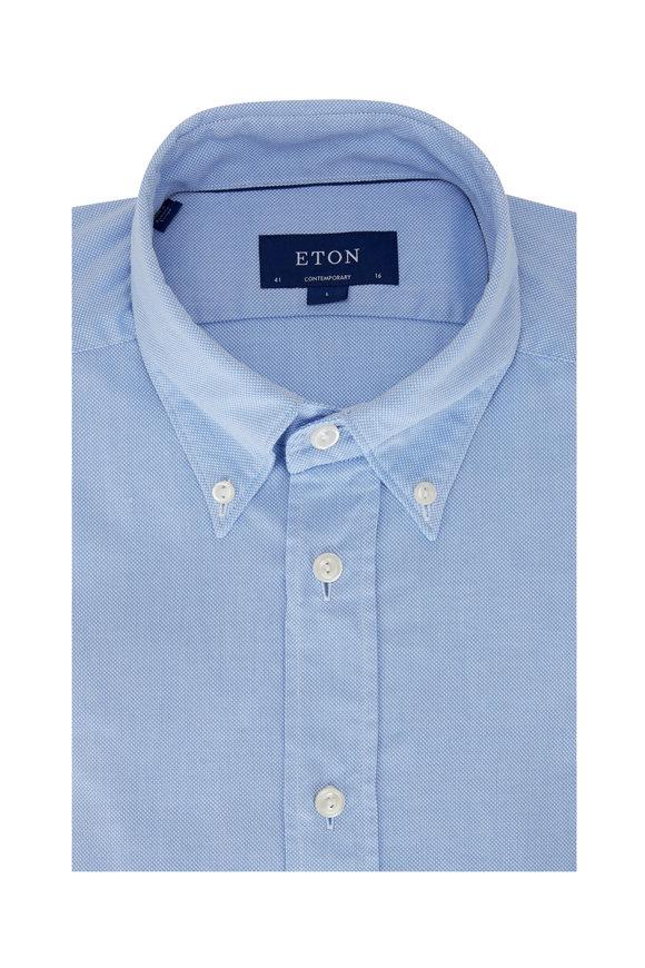 Eton Light Blue Oxford Contemporary Fit Sport Shirt