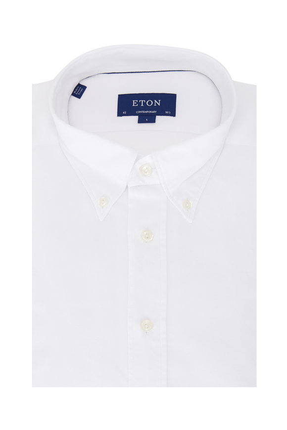 Eton White Washed Oxford Contemporary Fit Sport Shirt