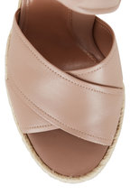 Marion Parke - Leah Buff Napa Leather Wedge Sandal, 85mm