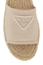Prada - Corda Canvas Flat Espadrille Slide