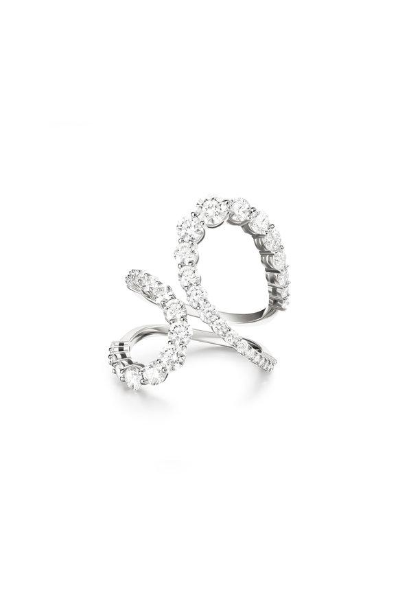 Melissa Kaye 18K White Gold Diamond Aria Jane Ring