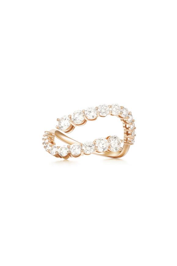 Melissa Kaye 18K Pink Gold Diamond Aria Skye Ring