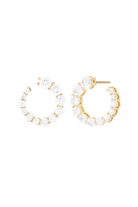 Melissa Kaye 18K Yellow Gold Diamond Aria Earwrap Earrings