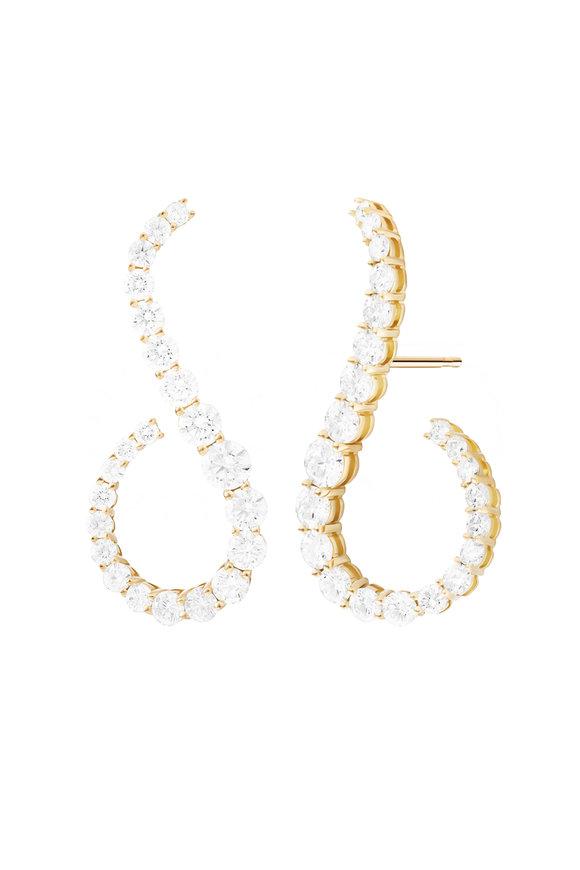 Melissa Kaye 18K Yellow Gold Diamond Aria Grace Earrings