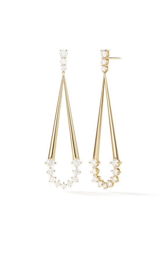 Melissa Kaye 18K Yellow Gold Diamond Jane Earrings