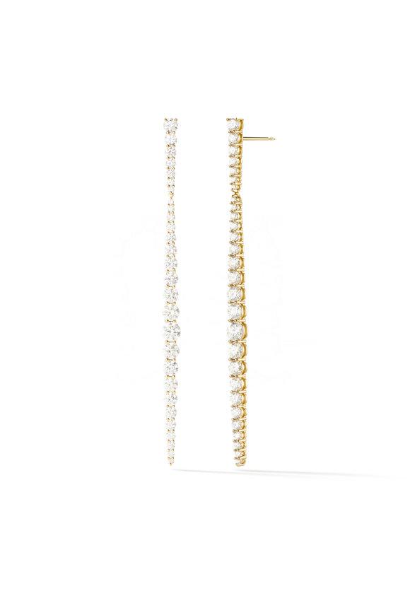 Melissa Kaye 18K Yellow Gold Diamond Aria Stiletto Earrings