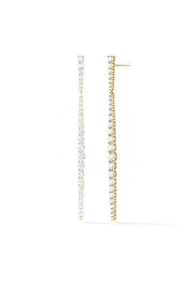 Melissa Kaye - 18K Yellow Gold Diamond Aria Stiletto Earrings