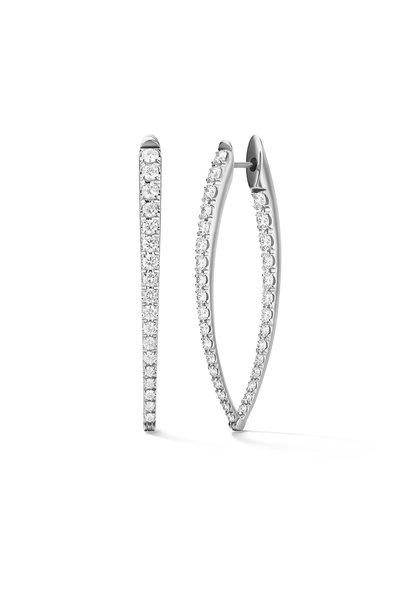 Melissa Kaye - 18K White Gold Diamond Large Cristina Earrings