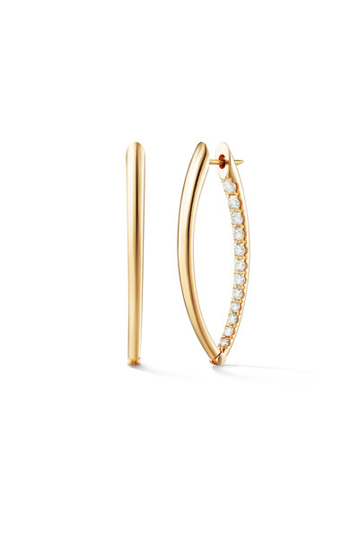 Melissa Kaye - 18K Yellow Gold Diamond Medium Cristina Earrings