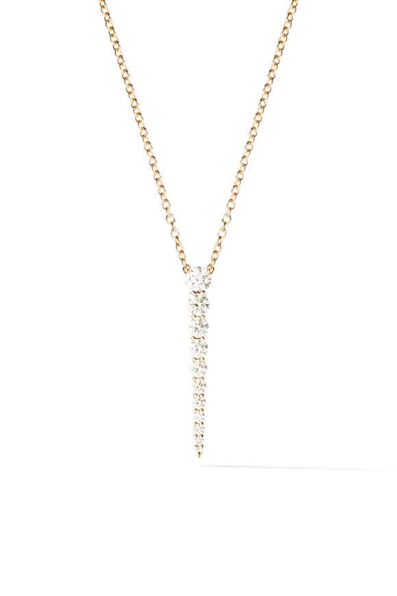 Melissa Kaye 18K Yellow Gold Diamond Aria Necklace