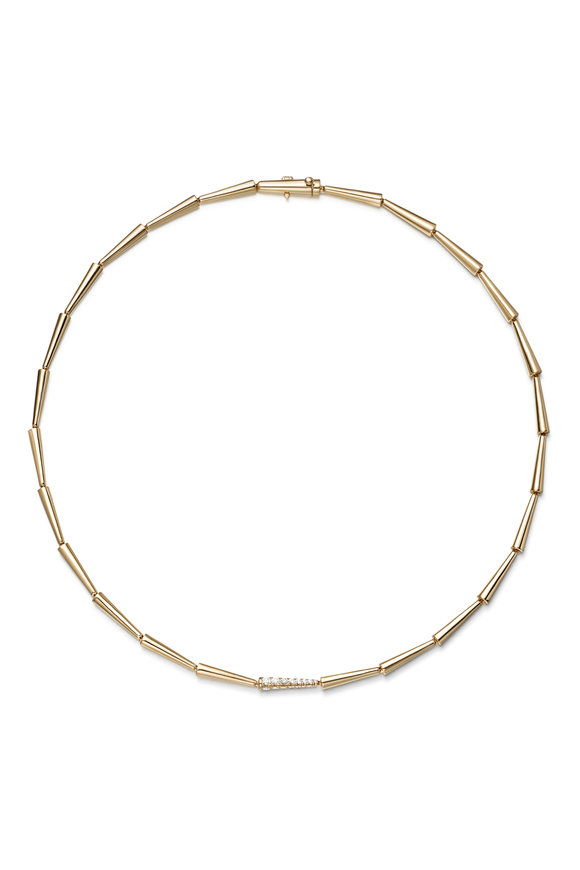 Melissa Kaye 18K Yellow Gold Diamond Lola Linked Necklace