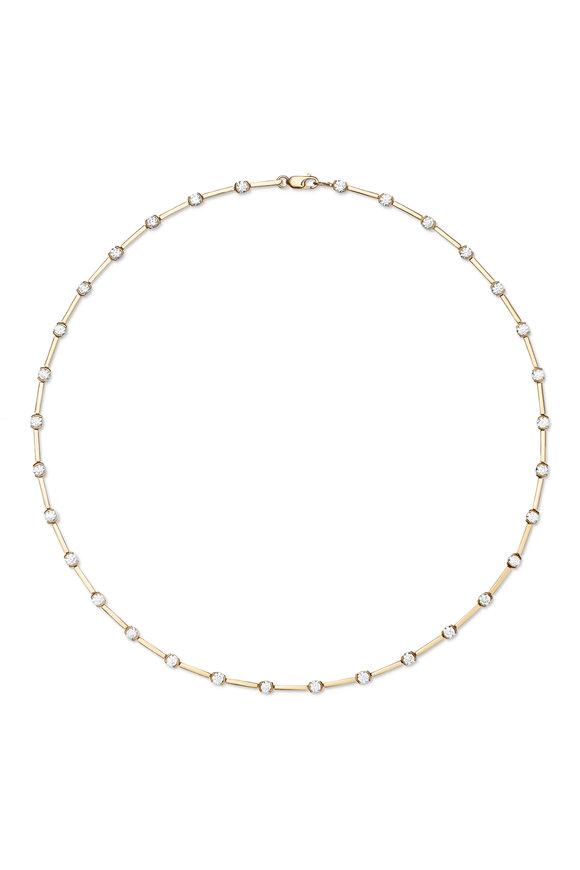 Melissa Kaye 18K Yellow Gold Diamond Zea Linked Necklace