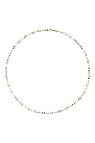 Melissa Kaye - 18K Yellow Gold Diamond Zea Linked Necklace