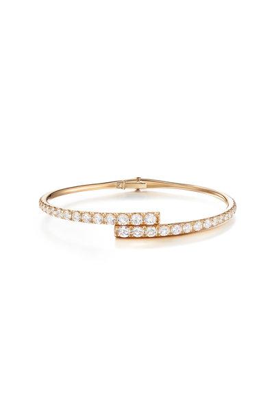 Melissa Kaye - 18K Pink Gold Diamond Lola Cuff