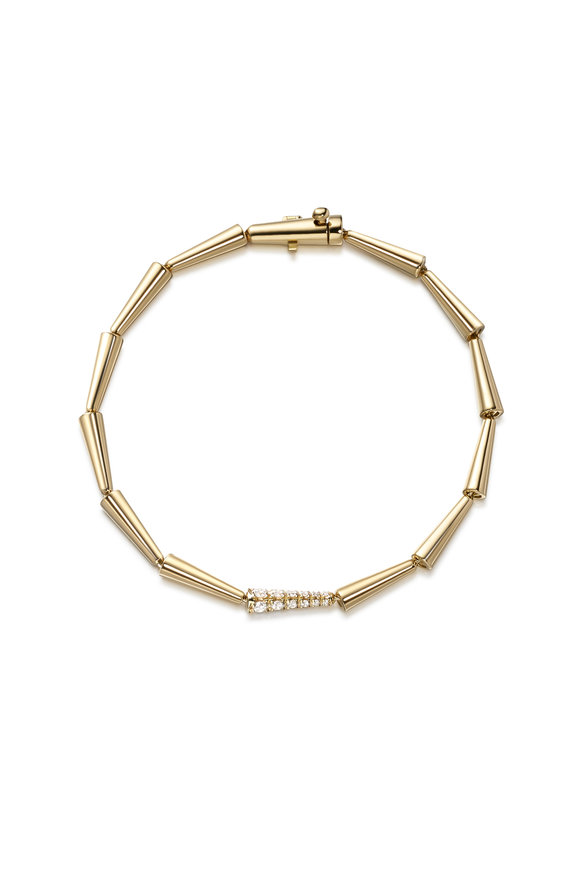 Melissa Kaye 18K Yellow Gold Diamond Lola Linked Bracelet