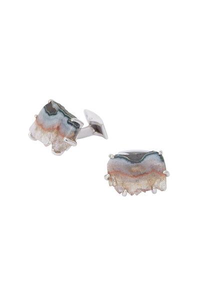 Spivey - Sterling Silver Amethyst Cuff Links