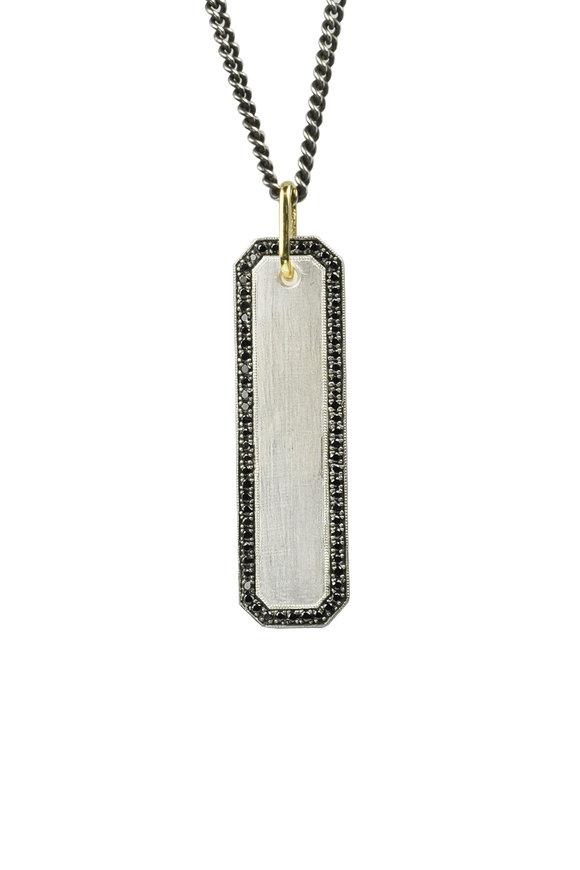 .925Suneera Winnie Black Diamond Pendant Necklace