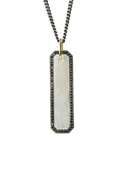 .925Suneera - Winnie Black Diamond Pendant Necklace