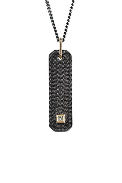 .925Suneera - Blackened Silver Nala Diamond Pendant Necklace