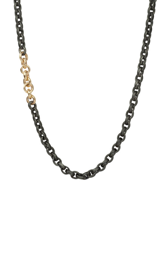 .925Suneera Silver & Rose Gold Links Olivia Chain