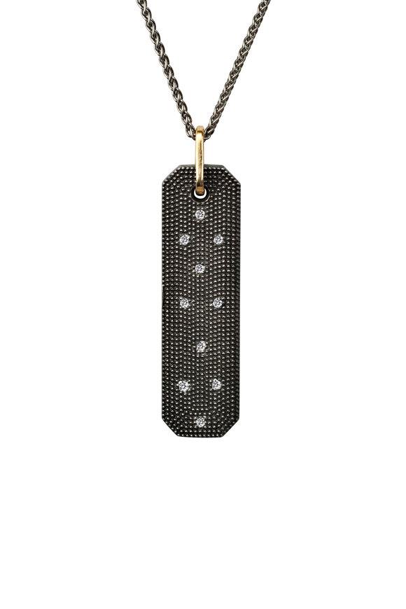 .925Suneera Blackened Sterling Silver Casper Diamond Pendant