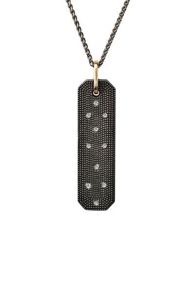.925Suneera - Blackened Sterling Silver Casper Diamond Pendant