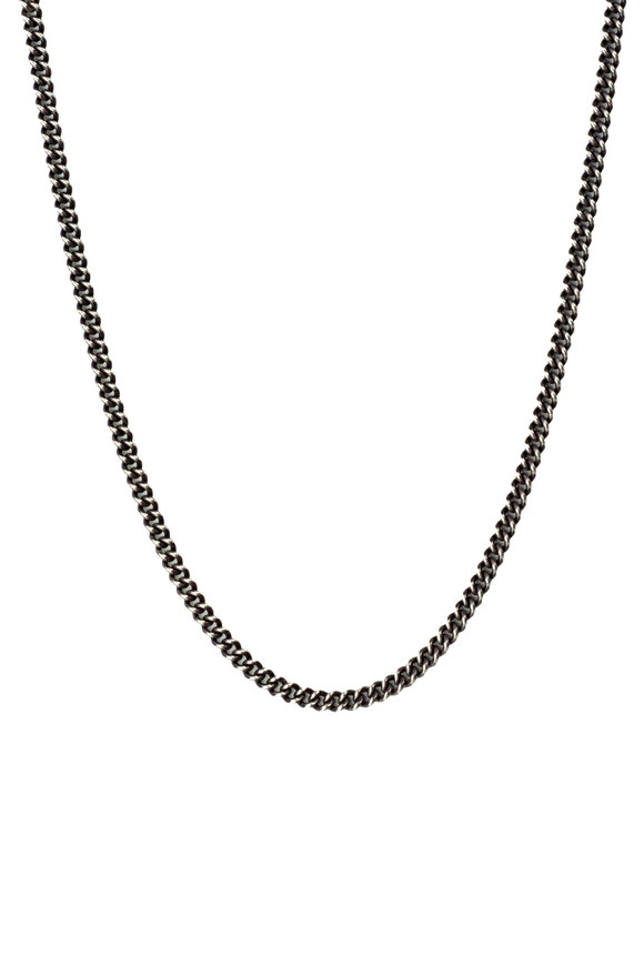 .925Suneera Sterling Silver Vintage Finish Liam Chain