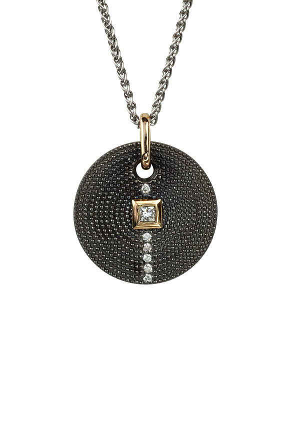 .925Suneera Silver & Gold Nan Diamond Pendant Necklace