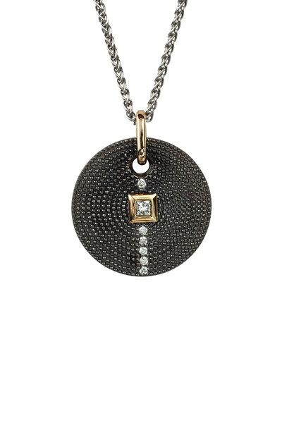 .925Suneera - Silver & Gold Nan Diamond Pendant Necklace