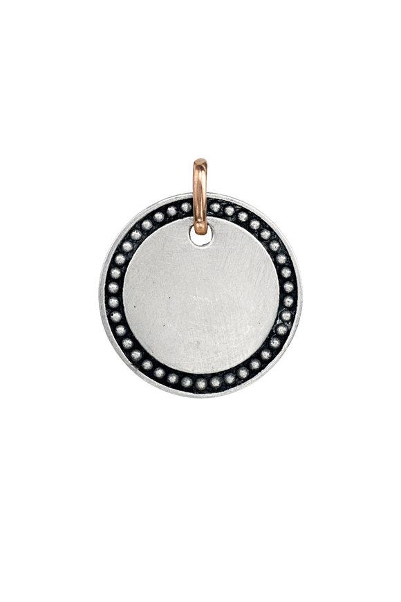 .925Suneera Silver & Gold Zoi Engravable Pendant