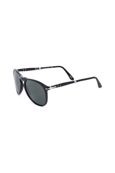 Persol - Round Black Sunglasses