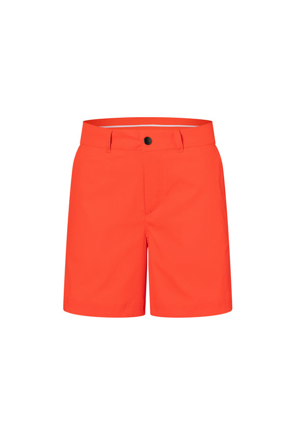 Bogner Noalie Neon Red Mechanical Stretch Shorts