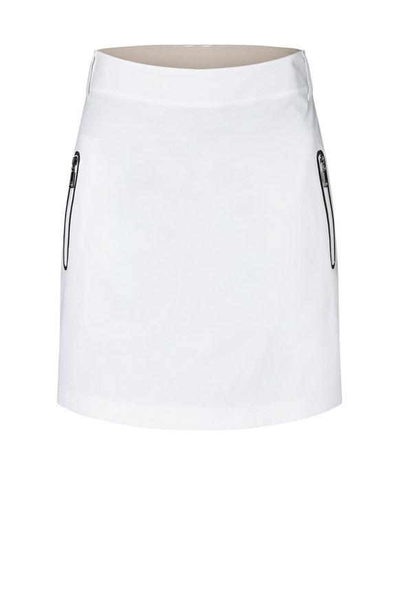 Bogner Sarina White Mechanical Stretch Skirt